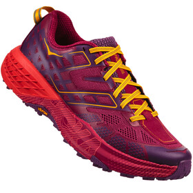Hoka One One W's Speedgoat 2 Running Shoes Cherries Jubilee/Purple Pass